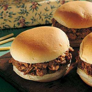 Mother's Barbecued Pork Sandwiches