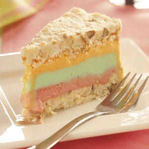 Rainbow Sherbet Dessert