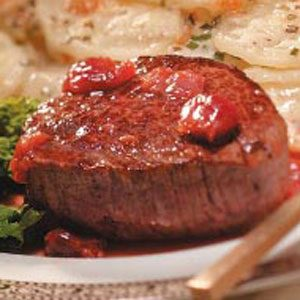Tenderloin for Two with Cherry-Brandy Sauce