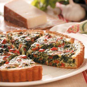 Pepperoni Spinach Quiche