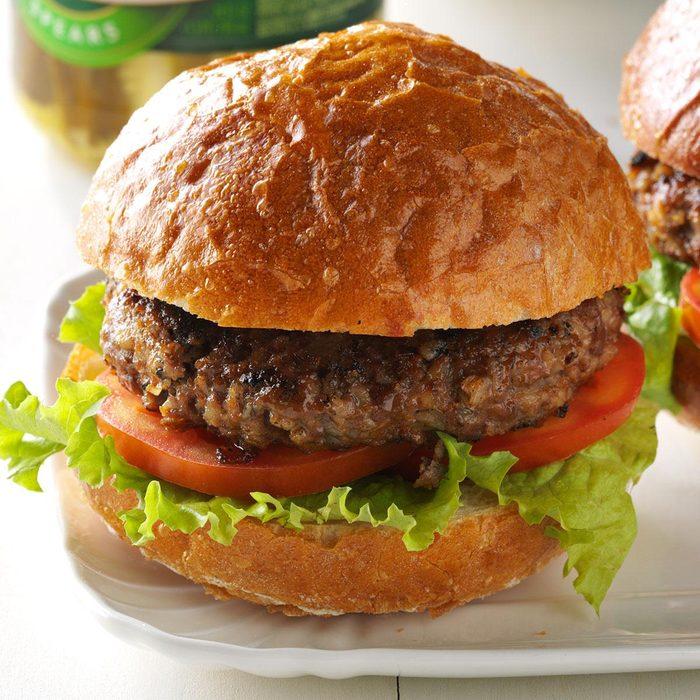 Barley Beef Burgers