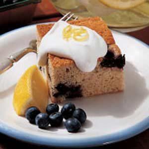 Blueberry Pudding with Lemon Cream Sauce