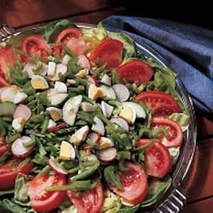 Summer Salad with Golden Dressing