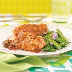 Curry-Glazed Golden Chicken