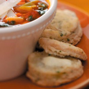 Chive & Lemon Biscuits