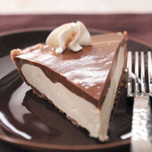 Makeover Chocolate Eggnog Pie