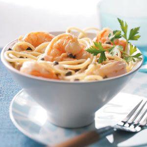 Healthy Shrimp Piccata Pasta