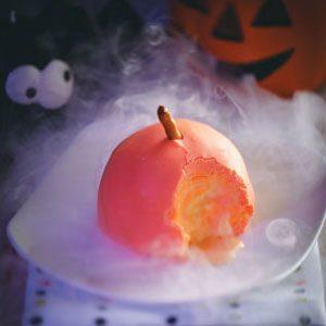 Pumpkin-Shaped Ice Cream Balls