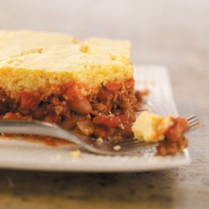 Hamburger Corn Bread Casserole