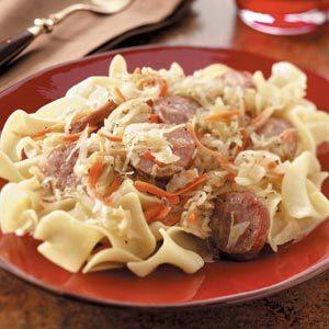 German-Style Kielbasa and Noodles