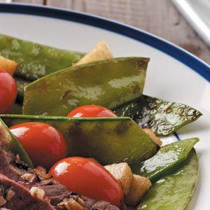 Snow Peas with Tomatoes