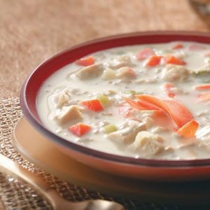 Makeover Curried Chicken Rice Soup