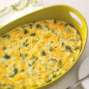 Makeover Broccoli Cheddar Brunch Bake
