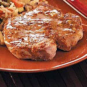 Homemade Maple Glazed Pork Chops