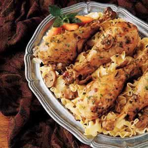 Turkey Legs with Mushroom Gravy