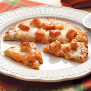 Individual Buffalo-Style Chicken Pizza