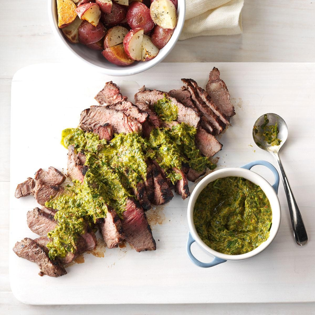 Steak with Chipotle-Lime Chimichurri