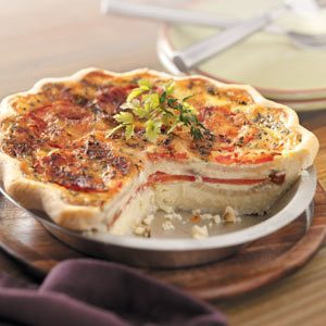 Tomato Onion Quiche