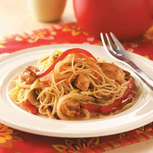 Asian Chicken with Pasta