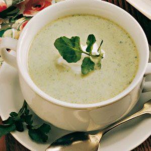 Asparagus Cress Soup for 2