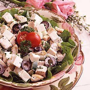 Greek Salad and Chicken