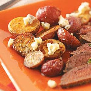 Roasted Potatoes with Thyme and Gorgonzola