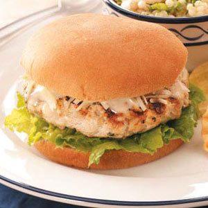 Chicken Caesar Burgers