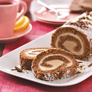 Mocha Ice Cream Cake Roll
