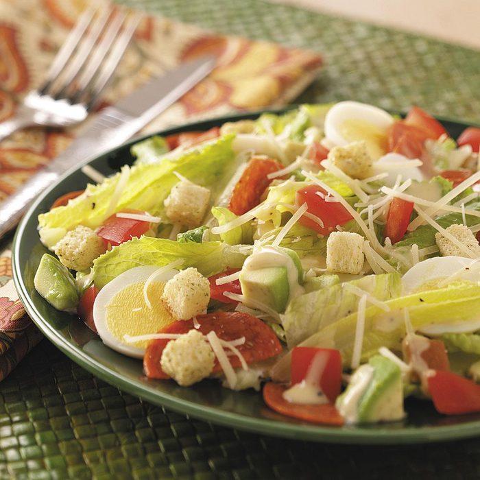 Pepperoni Avocado Caesar Salad