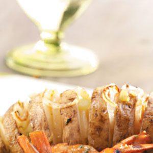 Garlic-Oregano Grilled Potato Fans