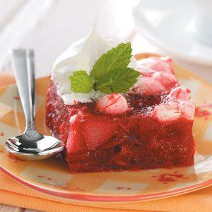 Rhubarb Pear Gelatin