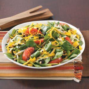 Black Bean Spinach Salad