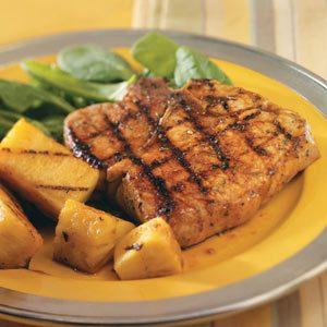Teriyaki Pineapple & Pork Chops