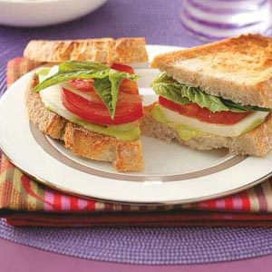 Fresh Mozzarella Basil Sandwiches