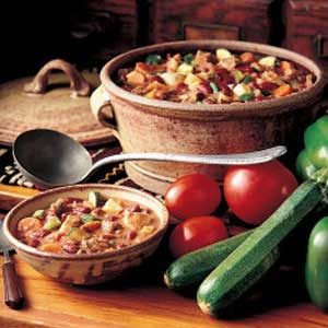 Rich Meaty Vegetable Chili