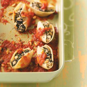 Lactose-Free Veggie-Stuffed Shells