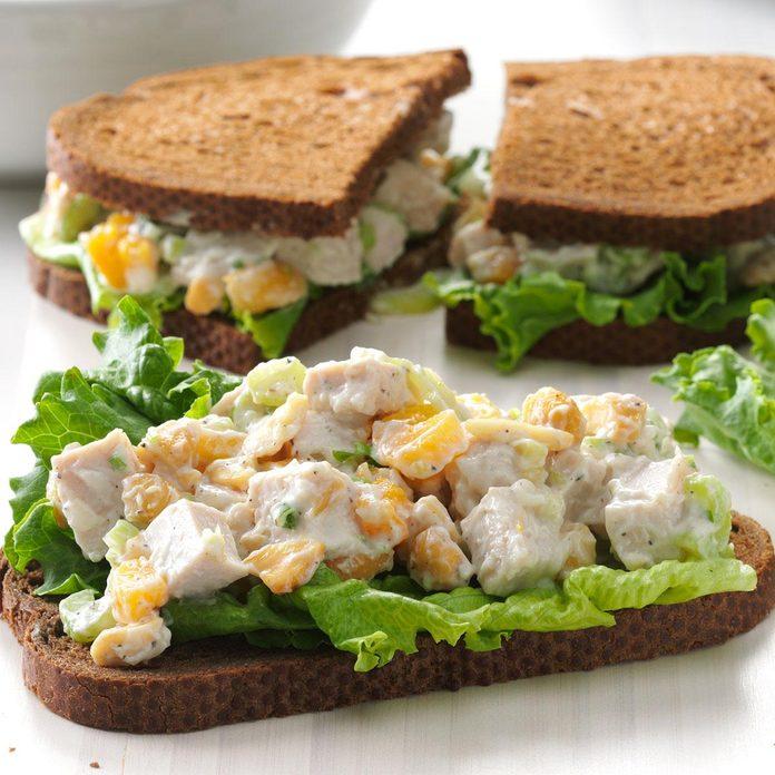 Day 17: Cashew Turkey Salad Sandwiches