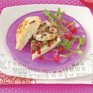 Cranberry Chicken Focaccia