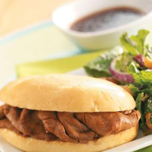 Quick French Dip Sandwiches
