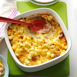Ham & Cheese Potato Casserole