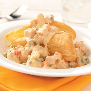 Creamed Turkey with Puff Pastry