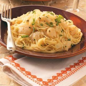 Scallops with Angel Hair