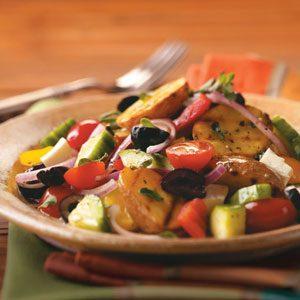 Grilled Greek Potato Salad