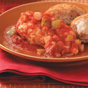 Creole-Poached Chicken Breasts