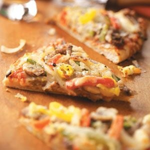 Traditional Philly Cheesesteak Pizza