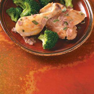 Prosciutto Chicken in Wine Sauce