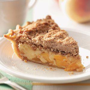 Sour Cream Peach Pecan Pie