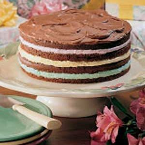 Pastel Four-Layer Cake