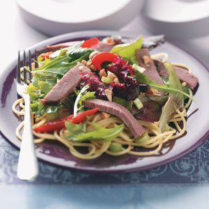 Thai Beef Pasta Salad