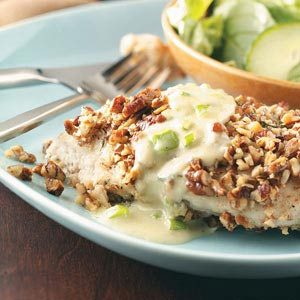 Pecan Chicken with Blue Cheese Sauce